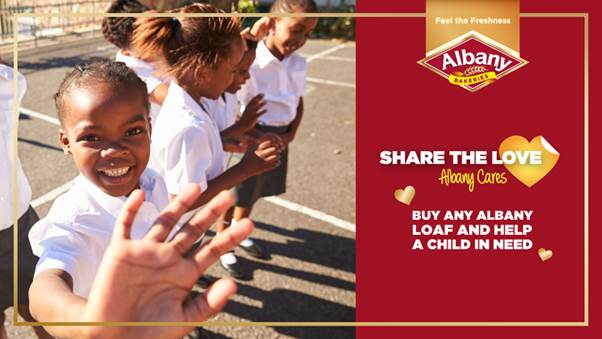 """5 Million Meals""- Feed a child, feed a dream in 2018 – A campaign by Albany Bakeries"
